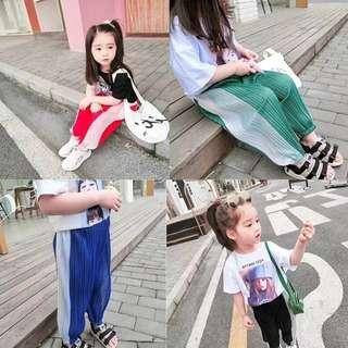 🚚 🌞【2018夏款新品上新,童可星輕薄燈籠褲】$490🌞 🌞【#材質:100%聚酯纖維】🌞 🌞【#顏色:】黑色/紅色/綠色/藍色🌞 🌞【#尺寸:7-15-160】 🌞 🌞【#適合身高:90-130-160cm】🌞