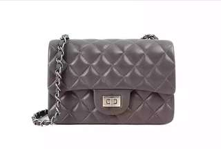 Chanel style leather chain bag