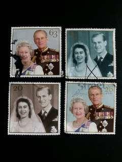 1997年英女皇伊莉莎伯和菲臘親皇金婚纪念已銷一套四全