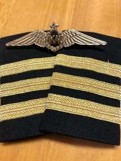 副機師肩章(三柴)連HKAC翼章