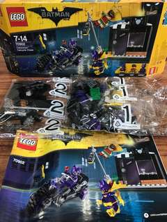 Lego Catwoman Cycle Chase set parts (no minifigs)