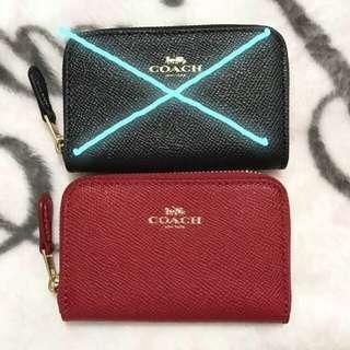 ❤️送禮現貨❤️Coach zip around coin wallet(連US gift receipt)