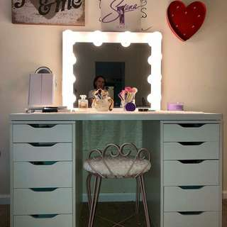 Sale! Vanity with framed mirror