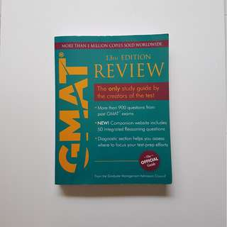 GMAT REVIEW : THE OFFICIAL GUIDE 13TH EDITION (WITH CD)