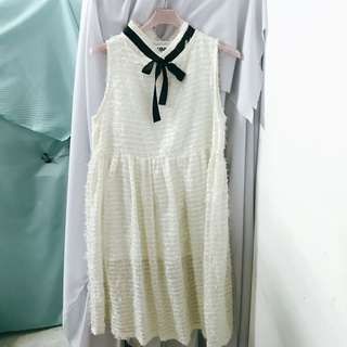 🚚 vintage 古著 白色洋裝
