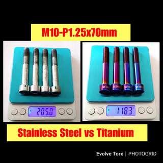 🔒🔩M10 Titanium Caliper Security Bolt