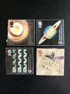 英國郵票 1999年千禧年科学家一套四全已銷