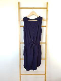 French Connection Dress Size 6 Navy