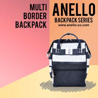 Anello Polyester Multi-Border Backpack | Anello Backpack Series!