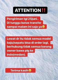 ATTENTION❗️