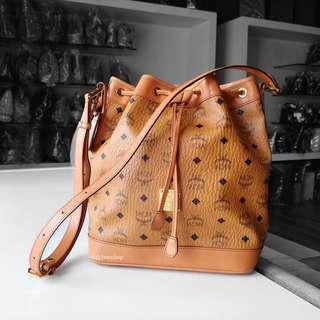 Authentic MCM Heritage Drawstring Shoulder Bag