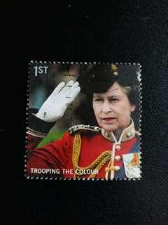 英國郵票 2005年英女皇閱兵儀式已銷