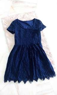 Zalora love blue lace dress