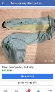 🚚 Travel nursing pillow and sling
