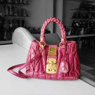 Authentic Miu Miu Matelasse Two Way Bag