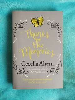Thanks for the Memories- Cecelia Ahern