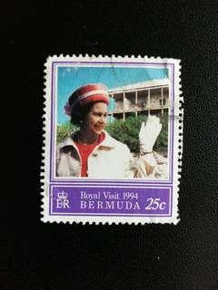 英屬百慕達郵票 1994年英女皇访問已銷