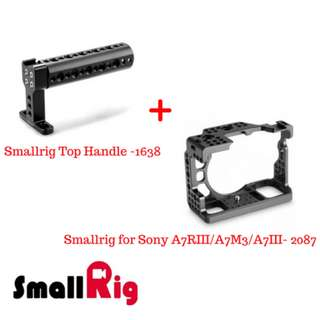 SmallRig Sony A7RIII/A7M3/A7III (2087) + Top Handle (1638)