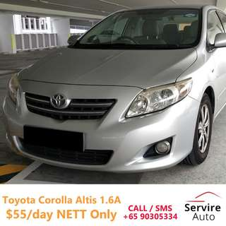 [$39/day Onwards!] Toyota Altis, Hyundai Avante, Honda Fit, Civic for Rental (Grab/Ryde/PHV/Personal Use) - CALL 90305334 NOW
