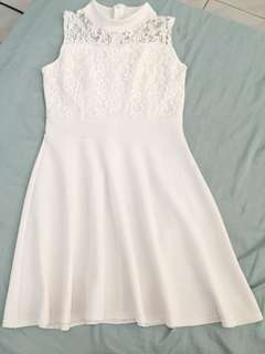 Simple but elegant white dress