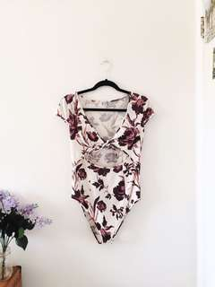 Free People 🥀 Floral Body Suit