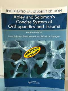Apley and Solomon's Concise System of Orthopaedics and Trauma (Baby Apley's)