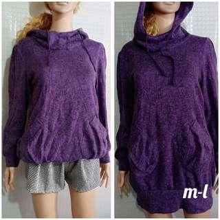 Violet Hooded Pullover