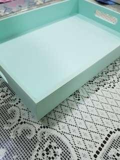 Cray  wooden tray display