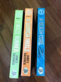 The Maze runner (book 1,2 and 3)