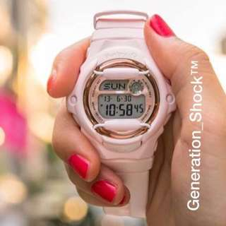 NEW🌟ARRIVAL BABYG WATCH : 1-YEAR OFFICIAL WARRANTY: 100% Originally Authentic Baby-G Shock Resistant In Blossom Pink added with Rose Gold Colour Stealth Matt ABSOLUTELY TOUGHNESS Best Surprise For Most Hardcore Rough Users : BG-169G-4BDR