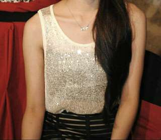 (SALE!!) Forever 21 Gold Sequined Top