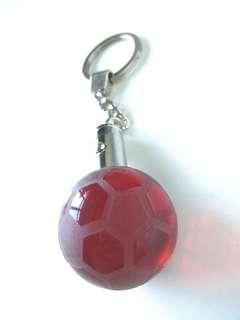 Glass soccer ball Keychain