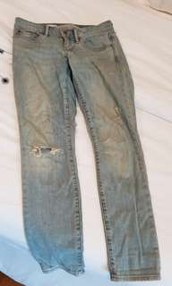 GAP 1969 skinny ripped jeans