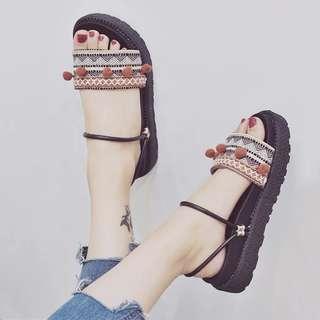 🚚 波西米亞風百搭涼鞋