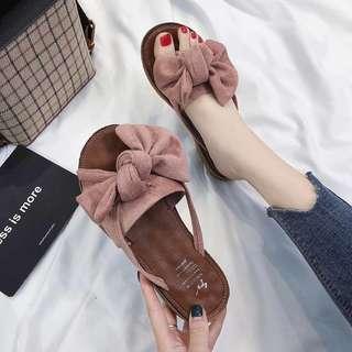 🚚 韓版蝴蝶結拖鞋🎀🎀