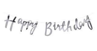 Happy Birthday Banner - Sliver