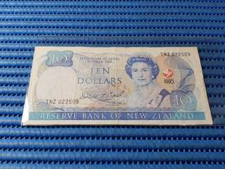 1990 New Zealand $10 Ten Dollars Commemorative Note TNZ 022509 Dollar Banknote Currency Commemorating The Signing of the Treaty of Waitangi 1840