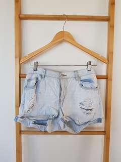 Dotti Shorts Size 10 Denim Blue