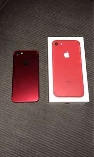 Limited edition IPhone 7 Red 128gb