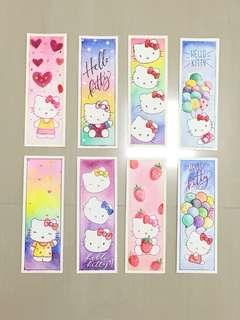 Hello Kitty Bookmark (handmade, watercolor)