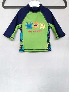 "Mothercare ""Go Crazy"" Alien Print Rash Guard"