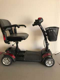 Red 4 wheel electric scooter