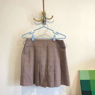 格紋百褶裙