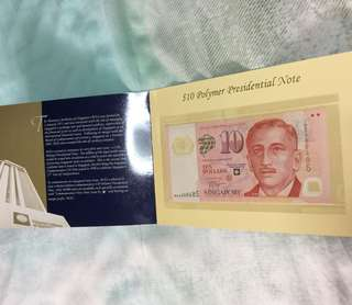 Singapore commemorative issue $10 Bank note