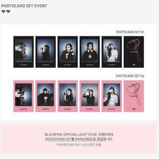 WTB blackpink benefits photocard