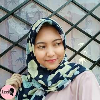 Voal Hijab - Navy Circle