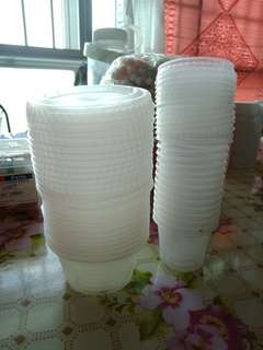 Clear skp containers set with lid