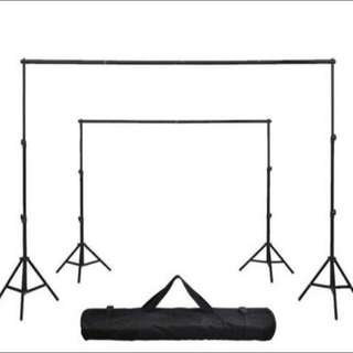 Studio Backdrop Stand For Sale (2m height x 3m width) adjustable + optional add on