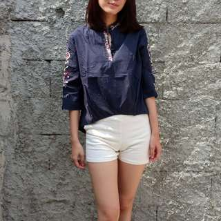 Blue embroidery shirt