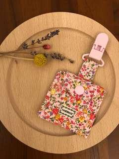 🚚 寶寶平安符袋-可愛清新小女孩系列-花花日系粉